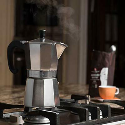 Bellemain Stovetop Espresso Moka 6 Cup Silver
