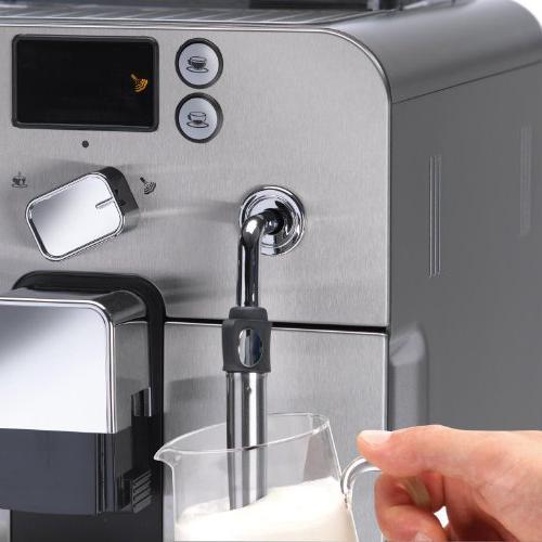 Gaggia Brera Super Espresso Machine in Pannarello Wand Latte Espresso Whole Bean