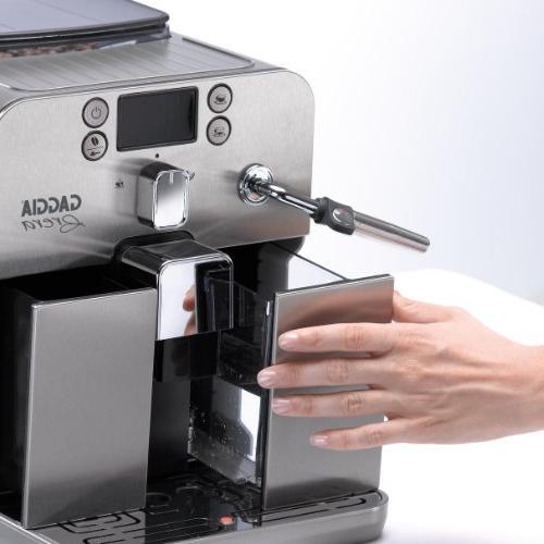 Gaggia Brera Espresso in Silver. Pannarello Latte and Drinks. Espresso or Whole Coffee.