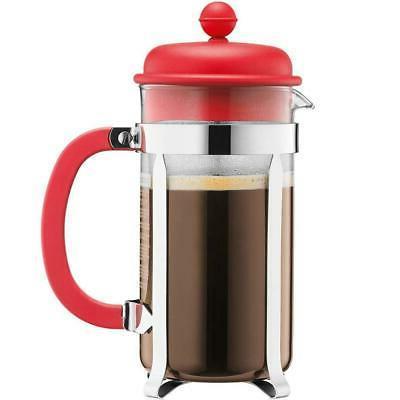Bodum Caffettiera Coffee Maker 8 Cup 1L 34 Oz Red