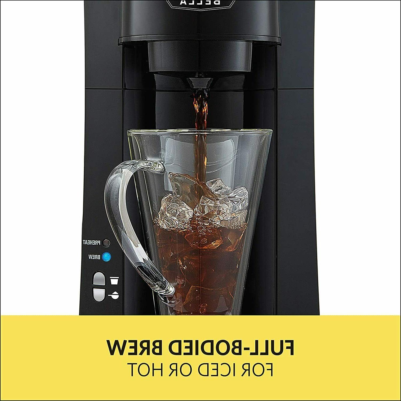 BELLA 14587 DUAL Serve Coffee Black, Cup & Ground Brewer