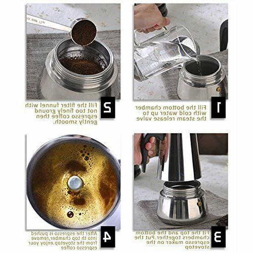 Sprise Coffee Maker Top Cup 6Latte Stainless