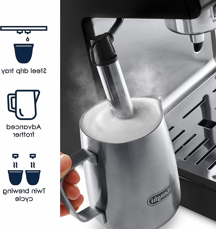 De'longhi 15-Bar Cappuccino Espresso Black