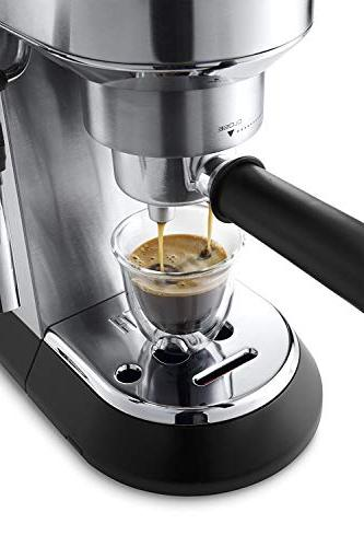 Delonghi DEDICA Pump Espresso Coffee Maker, Stainless Volts