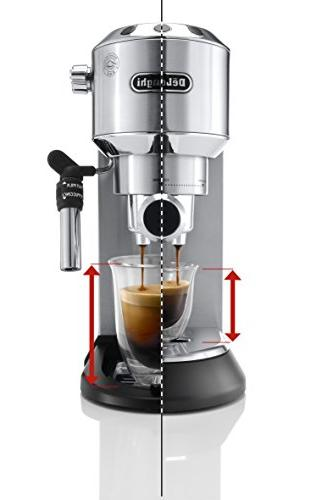 Delonghi DEDICA 15-Bar Pump Espresso Machine Coffee Maker, Stainless Volts