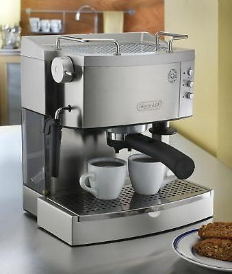 DeLonghi 15-Bar-Pump Espresso Maker, Stainless,