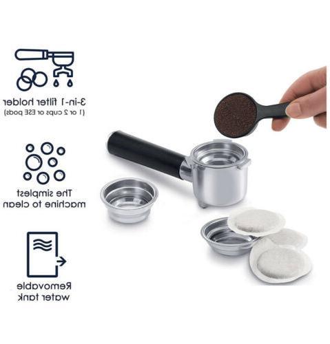 Delonghi Pump Espresso Machine Silver Black