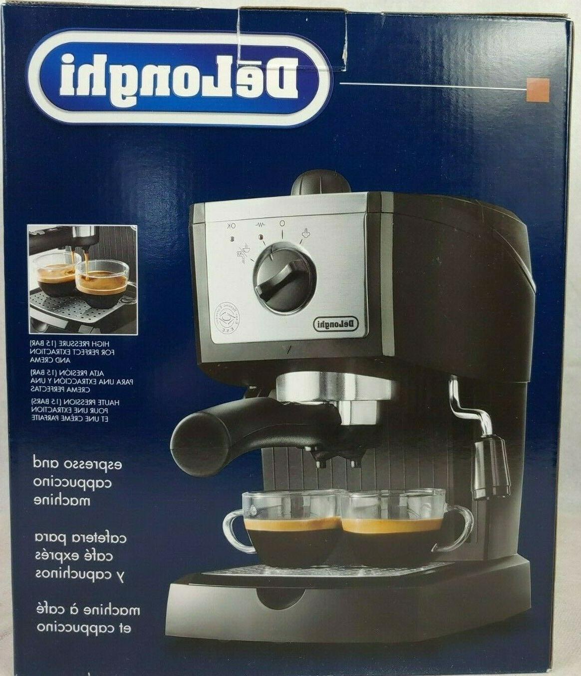 delonghi espresso machine and cappuccino maker black