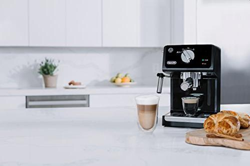 De'Longhi Espresso Cappuccino System, Black/Stainless Steel