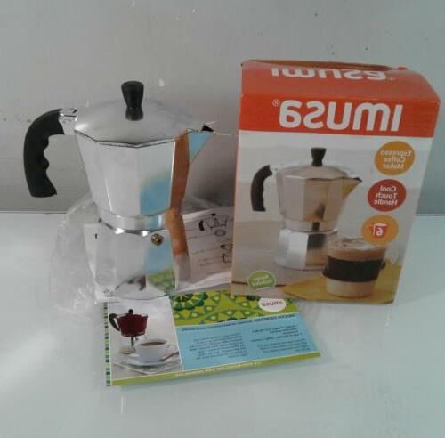 espresso coffee maker cool touch handle 6