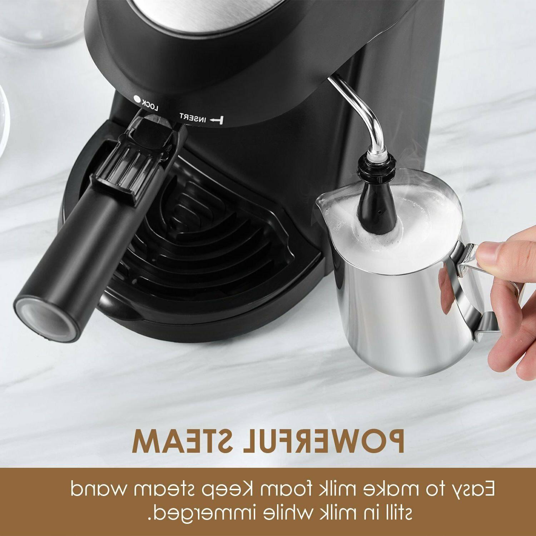Espresso Machine, Aicook Coffee Maker, Cappuccino,Milk Frother