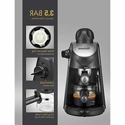 Espresso Maker, And Cappuccino With Milk Frother,