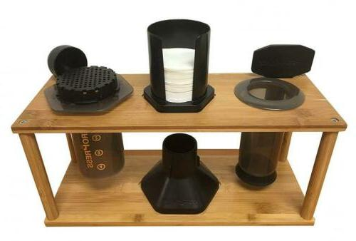 espresso machine and coffeemaker combos bamboo caddy