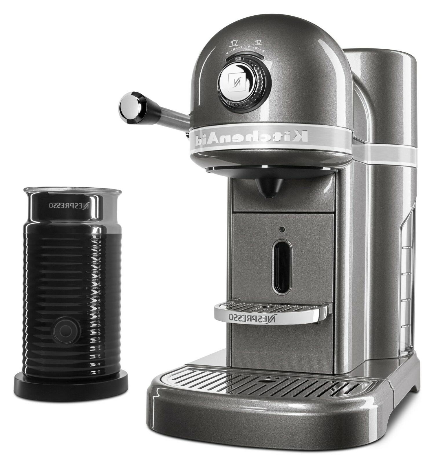 espresso maker by kitchenaid with milk frother