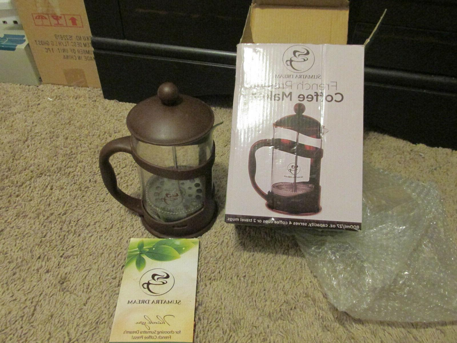 French Press Coffee Maker by Sumatra Dream 2-4 Cups