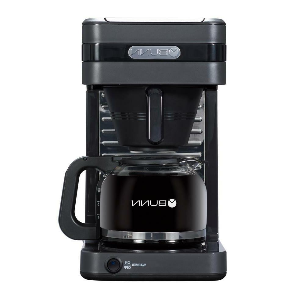 grey finish coffee maker with drip free
