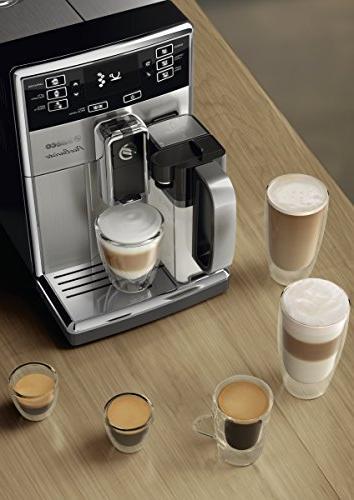 Saeco PicoBaristo Automatic Espresso Machine, Steel