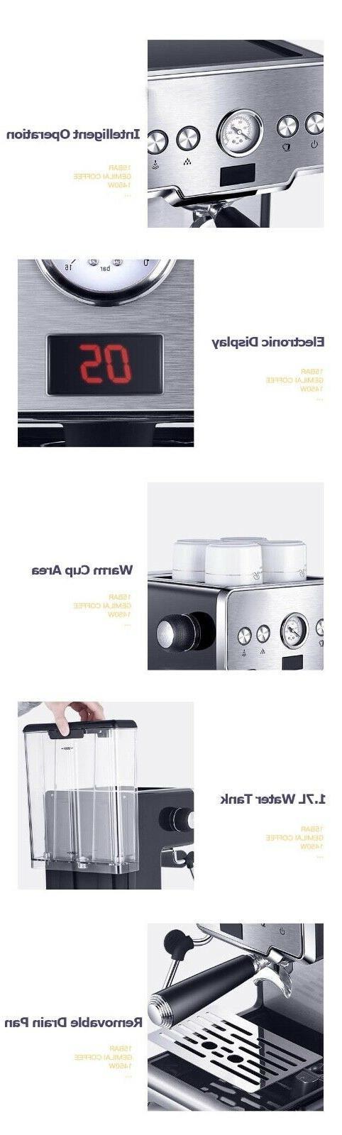 Home Machine Expresso Latte Coffee Steam
