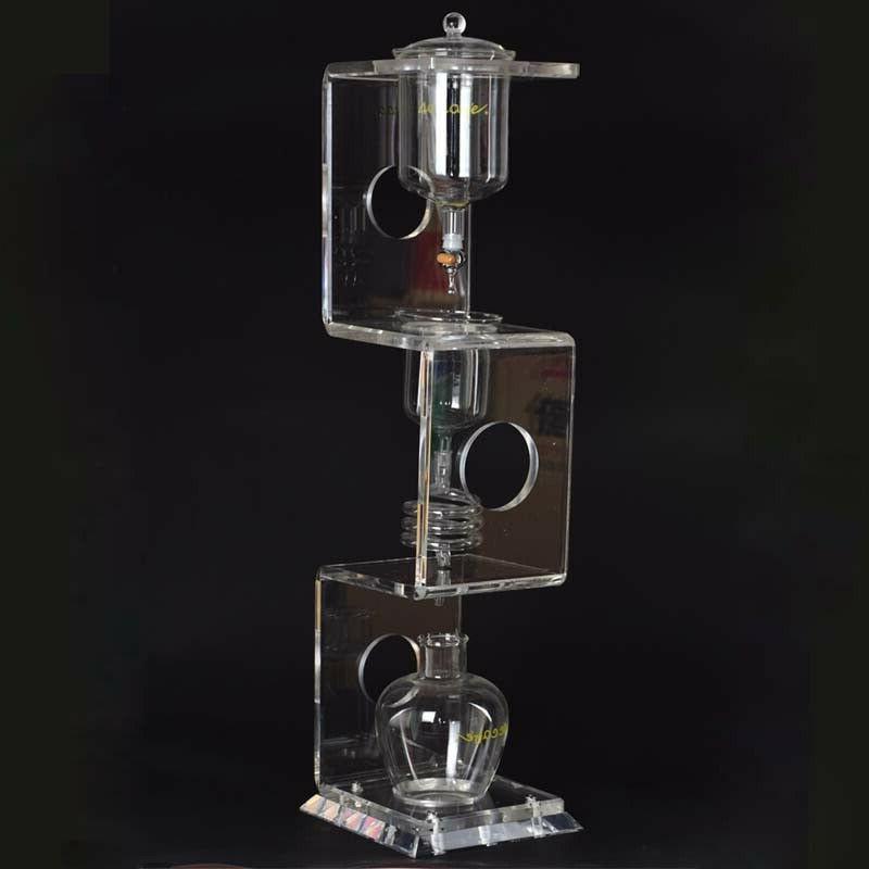 iced coffee maker acrylic pillar percolators espresso