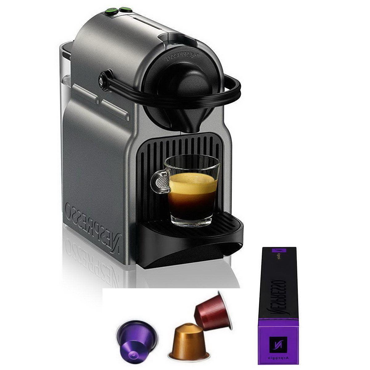 Nespresso Inissia Brewer Kit w/ Optional Aeroccino
