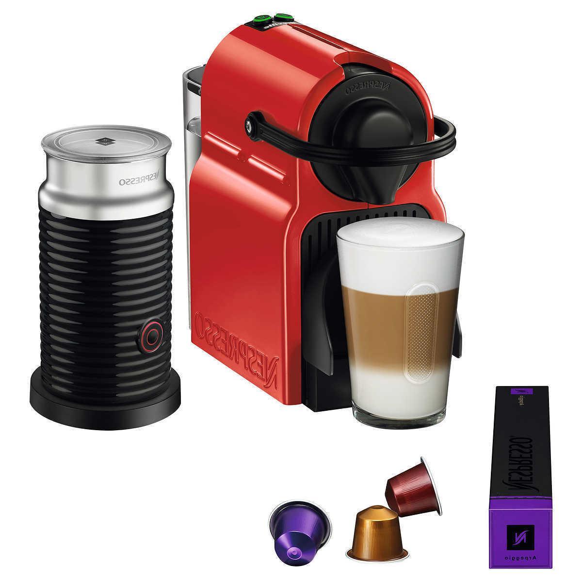 Nespresso Espresso Brewer 14 Capsules w/ Optional Aeroccino 3