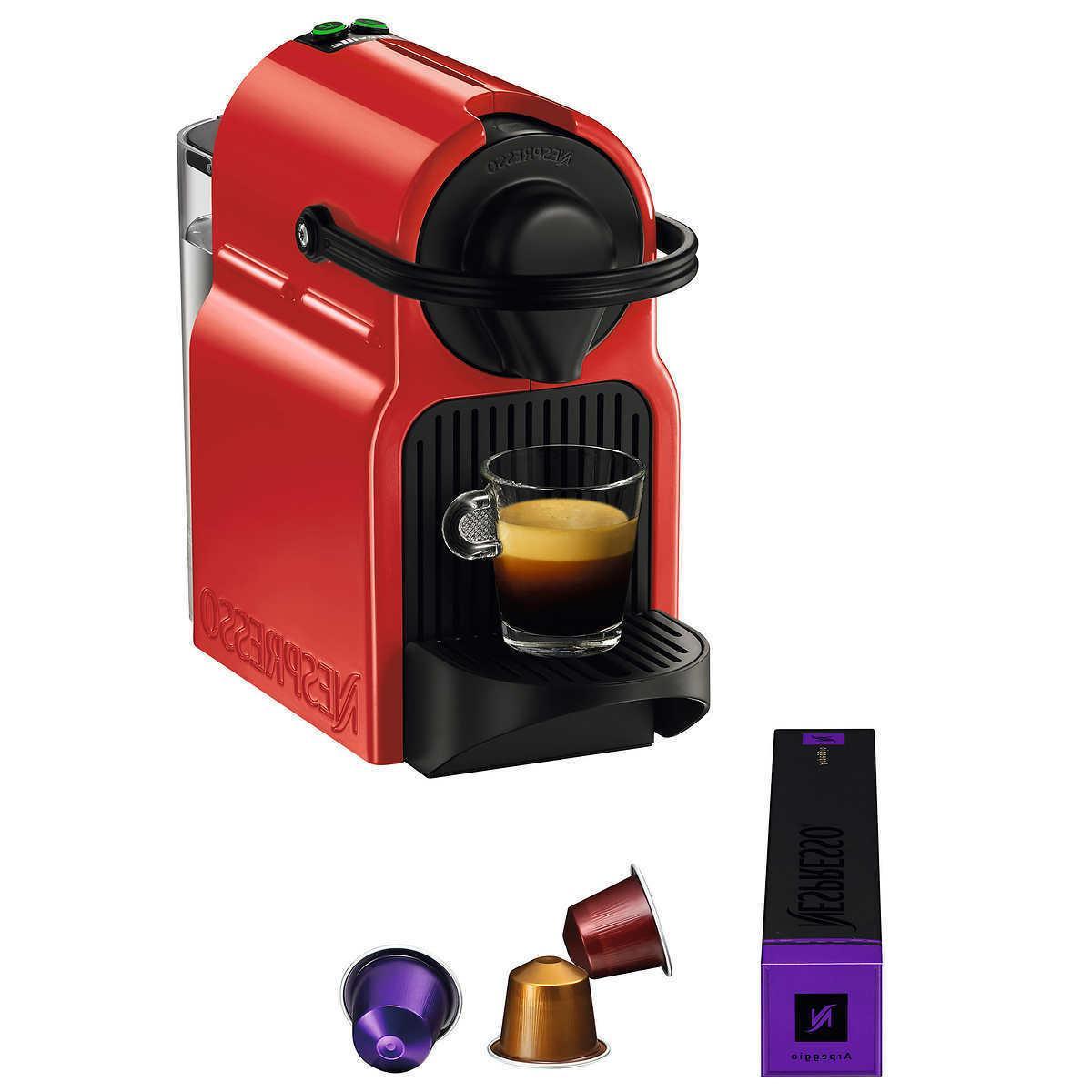 Nespresso Brewer 14 Capsules w/ Optional
