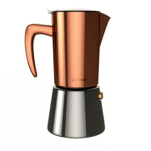 Intenca Espresso Stovetop & Moka Pots Maker Made Of Stainles