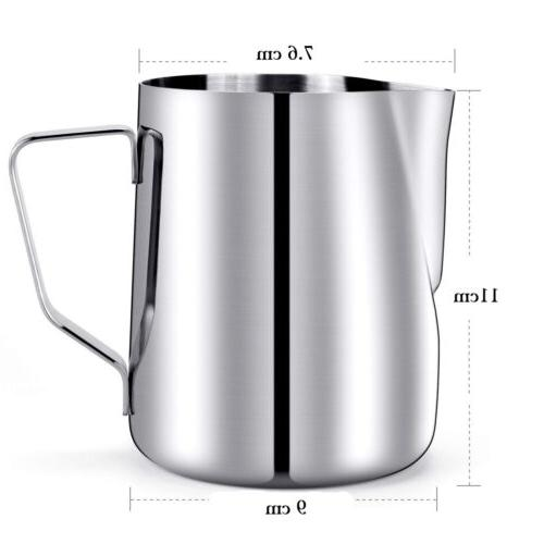 milk frothing pitcher 20oz stainless steel cup
