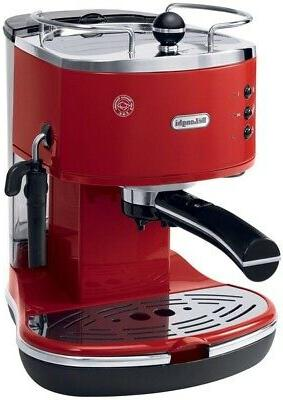 4-Cup Espresso/Cappuccino Maker Red