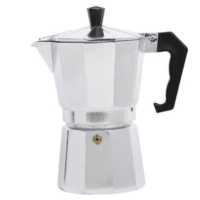 3 Cup Coffee Pot Moka Express Aluminum Stovetop Espresso Mak