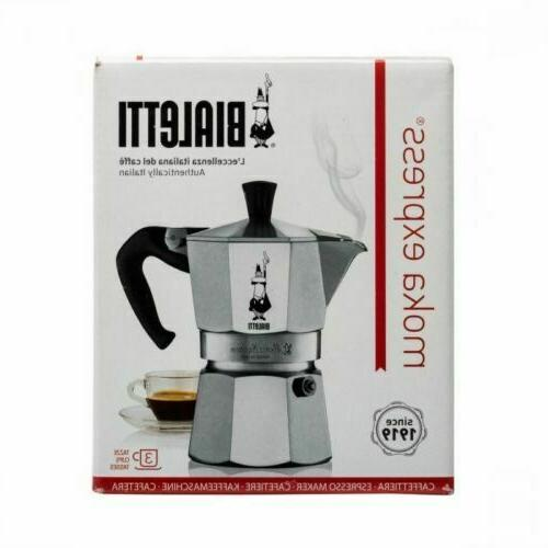 Bialetti Express Stovetop 3 Coffee Maker, Silver