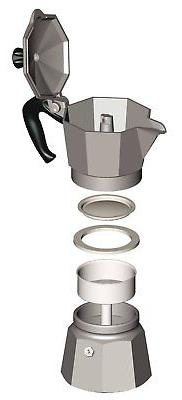Bialetti Stovetop Percolator Espresso 3, Cups