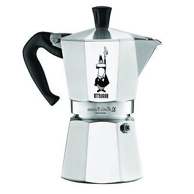 Bialetti Express Stovetop Percolator Espresso 1, 3, 6, Cups