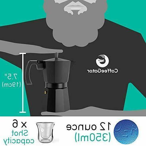 Moka Pot Stovetop Maker Gator, Rapid Stove Coffee