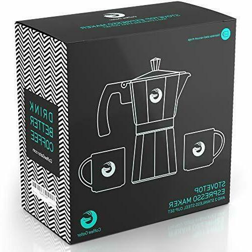 Moka Pot Espresso Maker Rapid Brewer