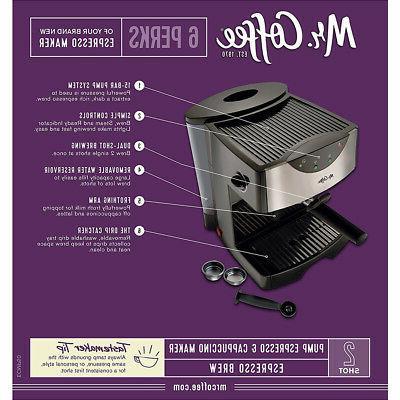 Mr. Coffee Espresso Maker in ECMP50-RB