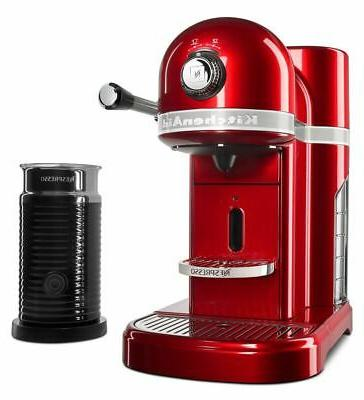 nespresso espresso maker by with milk frother