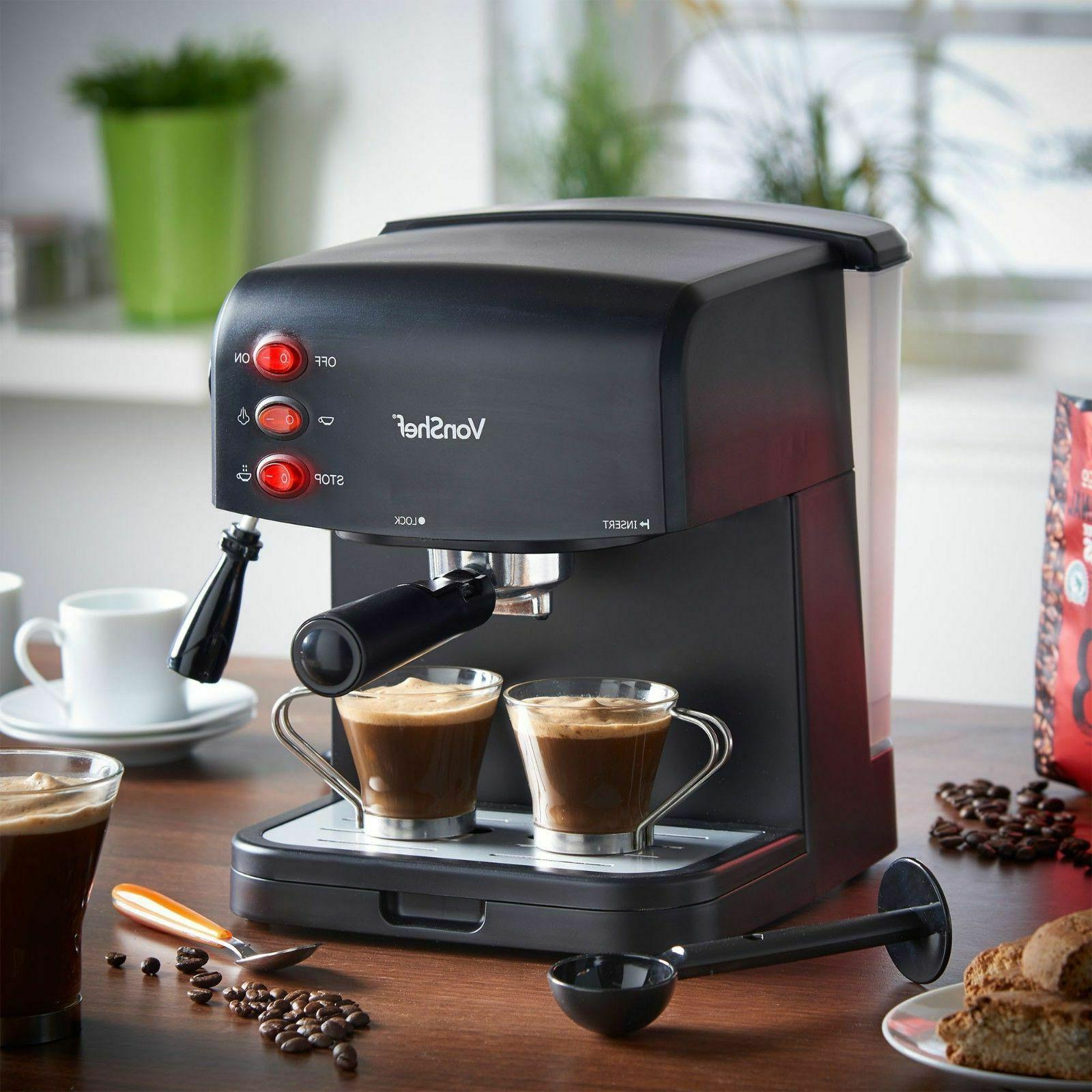 New VonShef Machine Cappuccino Latte