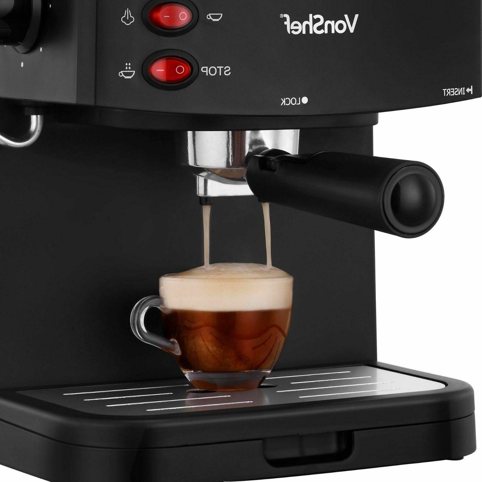 New VonShef Espresso Machine Maker Cappuccino