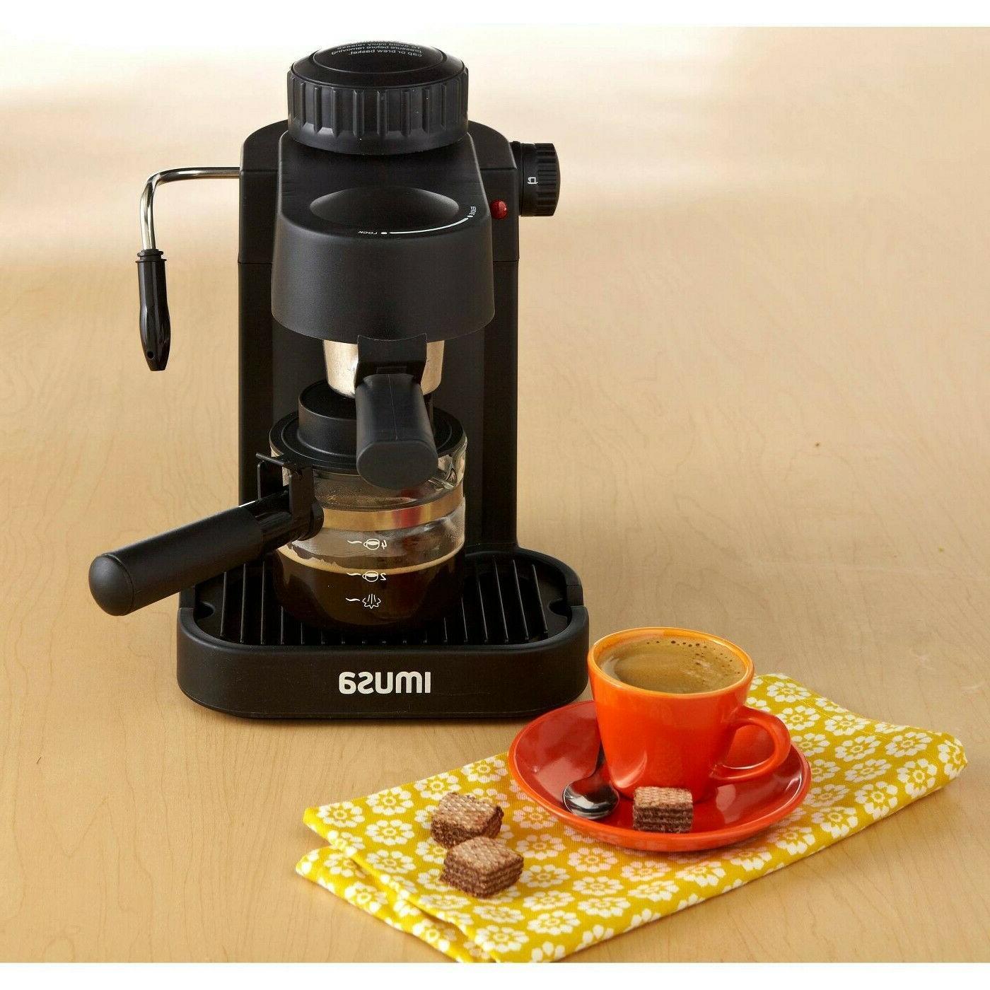 new espresso machine 4 cup electric cappuccino