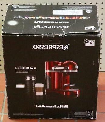 NEW Kitchenaid Nespresso KES0504SR Espresso Maker Frother - Sugar