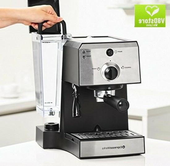 one espresso cappuccino machine set