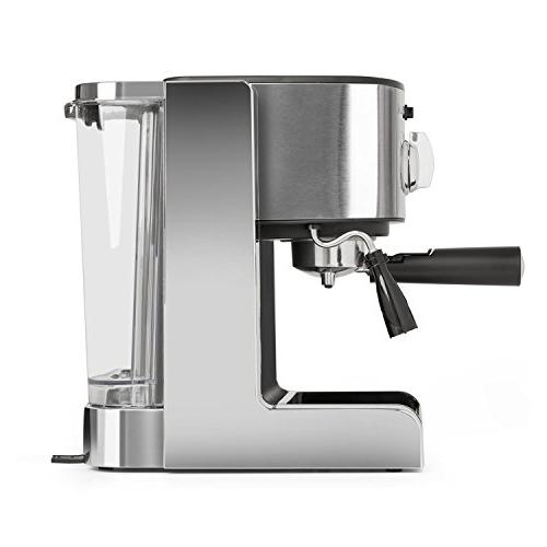 Espresso Machine • 20 Bar • Capuccino Milk Foam • • Design Modern Kitchens Nozzle Frothing Milk and Hot • Silver