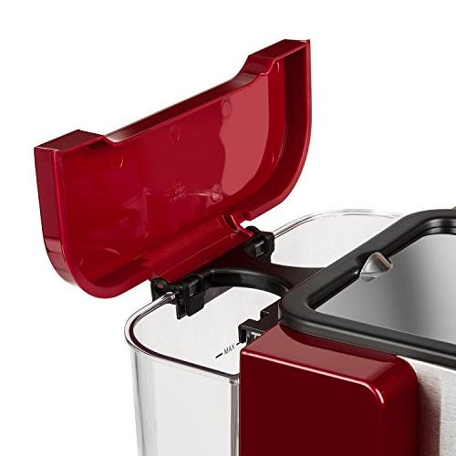 Klarstein Rossa Espresso Machine Bar • Milk Foam • Stylish Modern Kitchens Nozzle Frothing Milk and Hot • Red