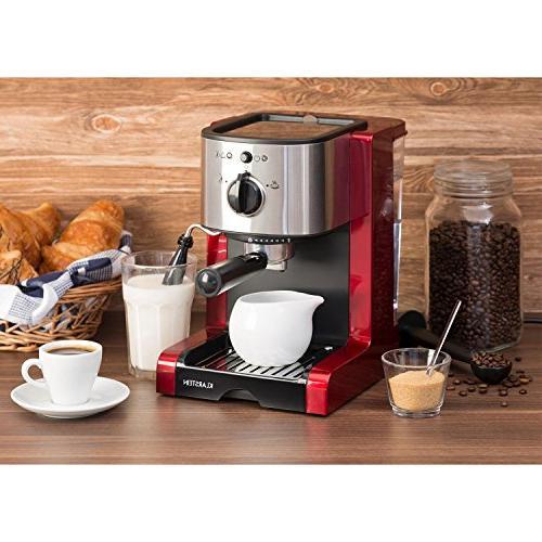 Klarstein Espresso Machine • 20 Milk • Stylish Modern Nozzle Milk and Hot Drinks •