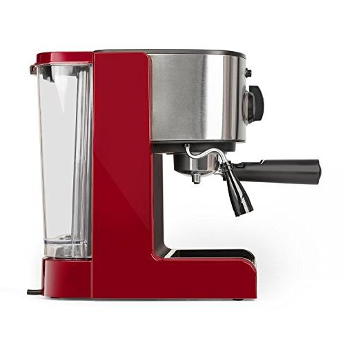 Klarstein Passionata Rossa Espresso • 20 Bar Milk Foam • Modern Nozzle for Frothing and Hot • Red