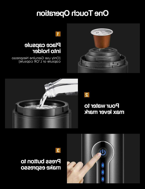 Aicok 18 Espresso Machine, Electric Mini Espresso