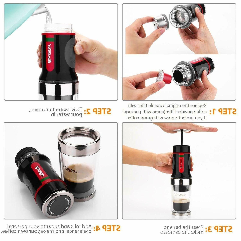 Barsetto Coffee Espresso Coffee 15 Bar Hand Press