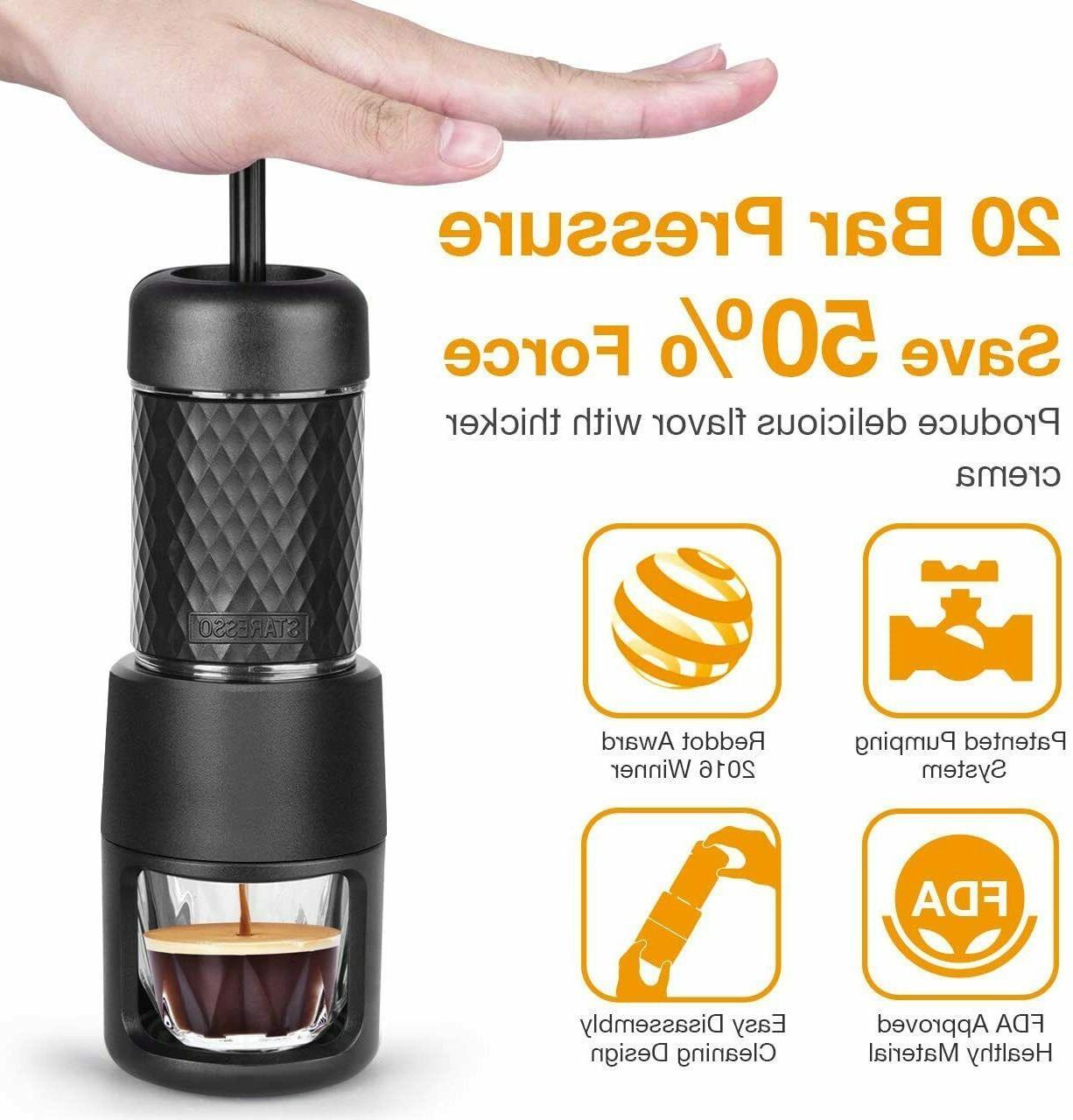 STARESSO Portable Manual Machine Coffee