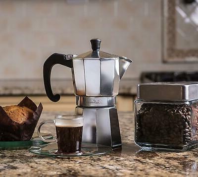portable stovetop espresso maker 6 cup heavy
